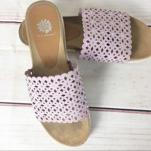 Yellowbox Pink Laser Cut Slide Sandals